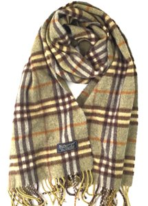 Burberry #15074 Green Check pattern 100% lambswool scarf