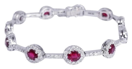 Preload https://img-static.tradesy.com/item/22374881/ruby-red-18k-white-gold-diamond-bracelet-0-1-540-540.jpg
