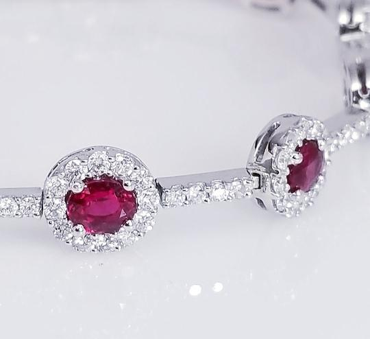 Ruby Red 18k White Gold And Bracelet Image 1