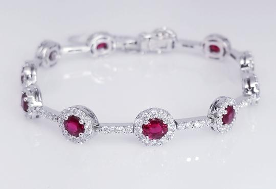 Ruby Red 18k White Gold And Bracelet Image 2