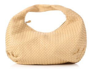 Bottega Veneta Woven Suede Cream Bv.l0920.04 Hobo Bag