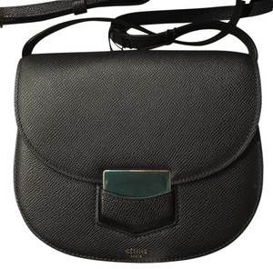 Céline Trotteur It Round Metal Closure Cross Body Bag