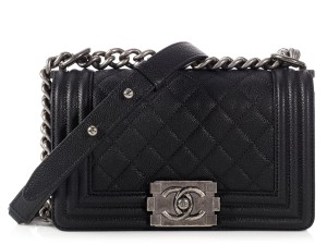 Chanel Quilted Ruthenium Hardware Slide Pocket Ch.l1002.01 Cross Body Bag