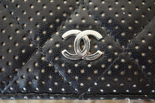 Chanel Chanel Perforated Bi-Fold Black Wallet 2007 Collection