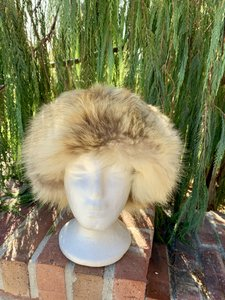 Unmarked Fluffy Fox Fur Vintage Hat Imported