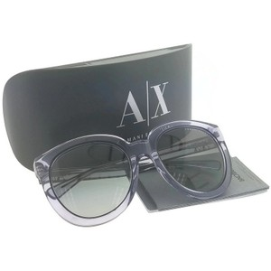 A|X Armani Exchange AX4003-803111 Women's Violet Crystal Frame Grey Lens 53mm Sunglasses
