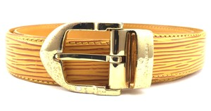 Louis Vuitton #15050 Yellow Epi gold buckle leather Belt size 85/34