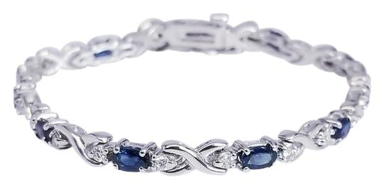 Preload https://img-static.tradesy.com/item/22375222/blue-sapphire-14k-white-gold-oval-cute-bracelet-0-1-540-540.jpg
