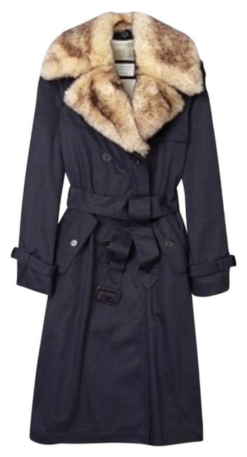 Item - Navy Penne Trench Coat Size 6 (S)