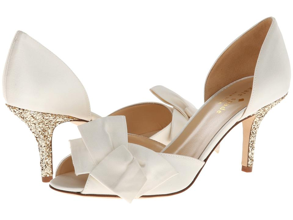 Kate Spade Satin Glitter Wedding Bridal Pump Ivory Formal