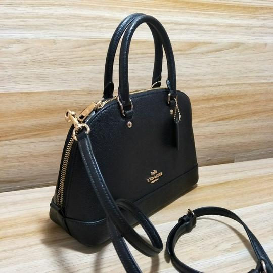 Coach Dome F57555 Brown Satchel in Black Image 2