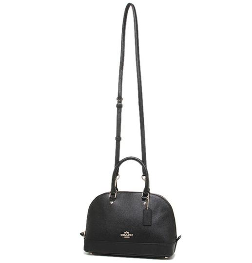 Coach Dome F57555 Brown Satchel in Black Image 4