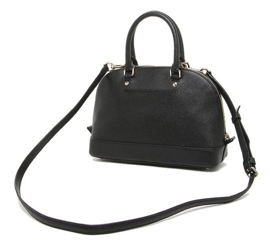 Coach Dome F57555 Brown Satchel in Black Image 5