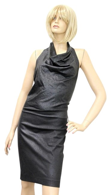 Preload https://img-static.tradesy.com/item/22375680/gucci-charcoal-wool-halter-wostrich-design-m-252483-mid-length-cocktail-dress-size-6-s-0-1-650-650.jpg