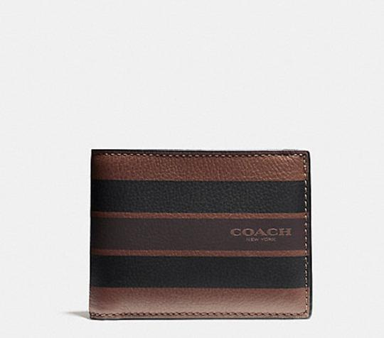 Coach F75399 Coach Leather Slim Billfold Wallet In Varsity Leather Image 2
