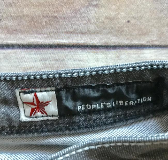 People's Liberation Gray Denim Trend Gray Boot Cut Jeans Image 4
