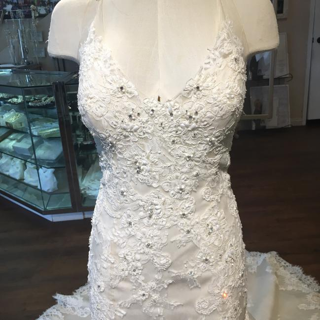 Maggie Sottero Ivory Over Champagne Wynter Traditional Wedding Dress Size 12 (L) Maggie Sottero Ivory Over Champagne Wynter Traditional Wedding Dress Size 12 (L) Image 2