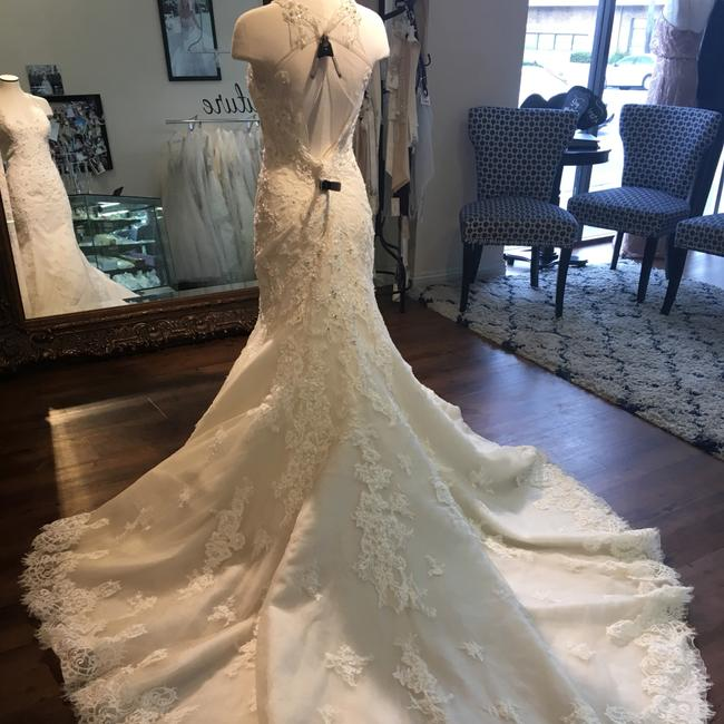 Maggie Sottero Ivory Over Champagne Wynter Traditional Wedding Dress Size 12 (L) Maggie Sottero Ivory Over Champagne Wynter Traditional Wedding Dress Size 12 (L) Image 3