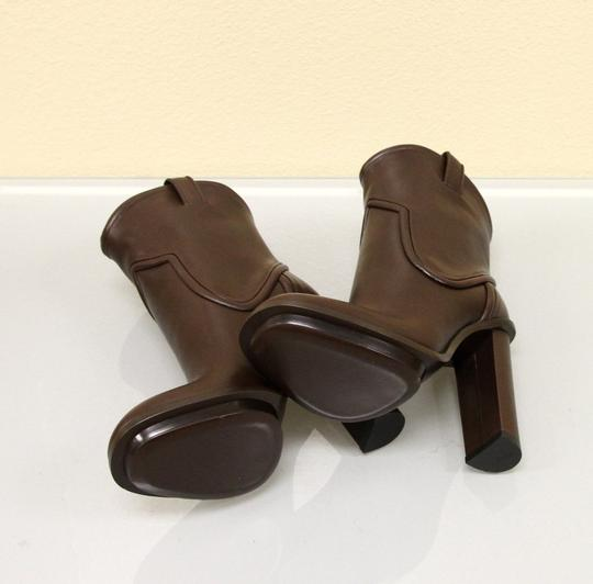 Gucci Runway Leather Platform Brown Boots Image 5