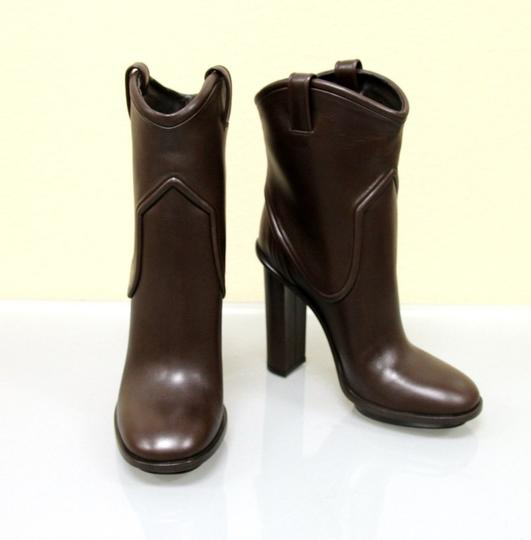 Gucci Runway Leather Platform Brown Boots Image 1