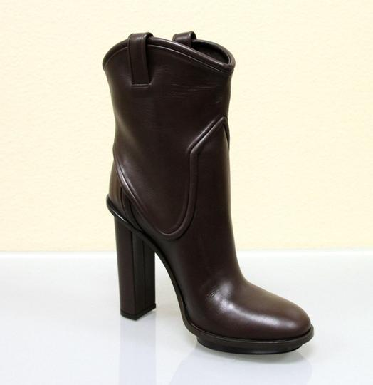 Gucci Runway Leather Platform Brown Boots Image 2