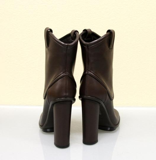 Gucci Runway Leather Platform Brown Boots Image 4
