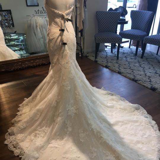 Maggie Sottero Ivory Over Champagne Amarosa Traditional Wedding Dress Size 12 (L) Image 1
