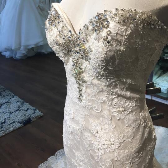 Maggie Sottero Ivory Over Champagne Amarosa Traditional Wedding Dress Size 12 (L) Image 2