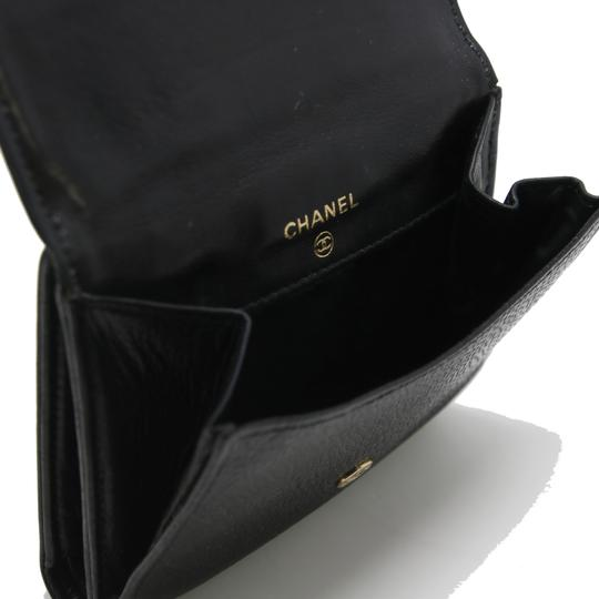 Chanel Classic CC Calfskin Caviar Leather French Compact Purse Wallet Image 8