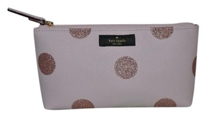 Kate Spade KATE SPADE HAVEN LANE LITTLE SHILOH COSMETIC BAG CLUTCH PINK GLITTER
