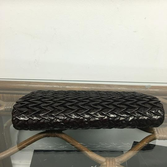 Ted Rossi Dark Brown Clutch Image 4