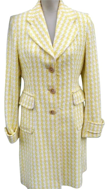 Item - Yellow and White Coat Size 8 (M)