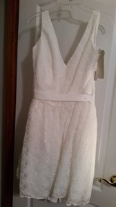 Mori Lee Ivory/Ivory Lace 31001 Feminine Bridesmaid/Mob Dress Size 20 (Plus 1x)