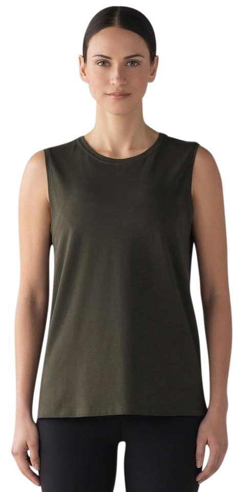 745b6a312c2714 Lululemon Love Sleeveless Tank Cotton Muscle Muscle T Shirt Dark Olive -  DKOV (Olive green ...