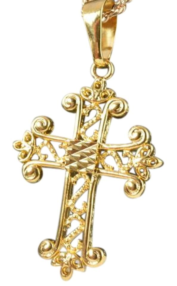 Gold filled 18kt religious pendants cross charm tradesy lbds 18kt gold filled religious pendants cross charms aloadofball Images