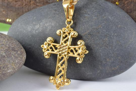 LBDS 18KT Gold Filled Religious Pendants Cross Charms Image 2