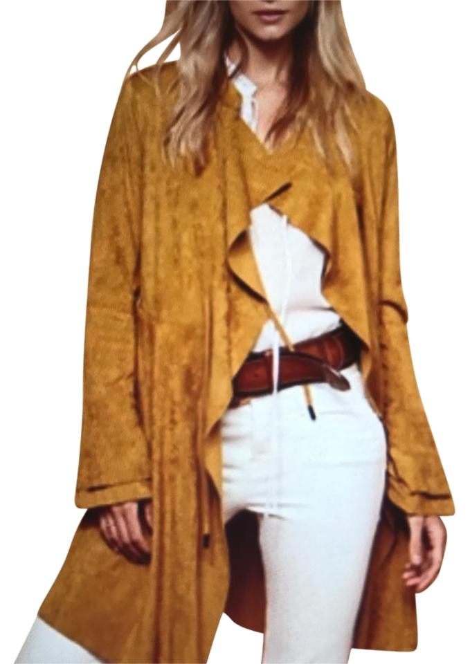 6517a59b54c Free People Tan Faux Suede Coat Jacket Size 8 (M) - Tradesy
