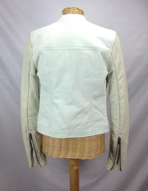 T by Alexander Wang Denim Zara Mint Motorcyce Green Leather Jacket Image 3