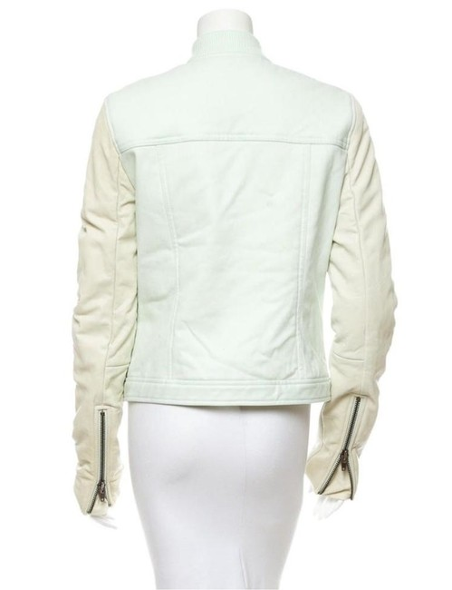 T by Alexander Wang Denim Zara Mint Motorcyce Green Leather Jacket Image 8