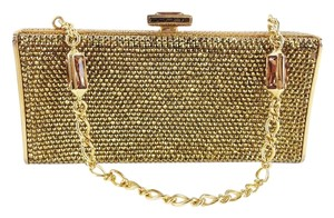 Judith Leiber Beaded Gold Clutch