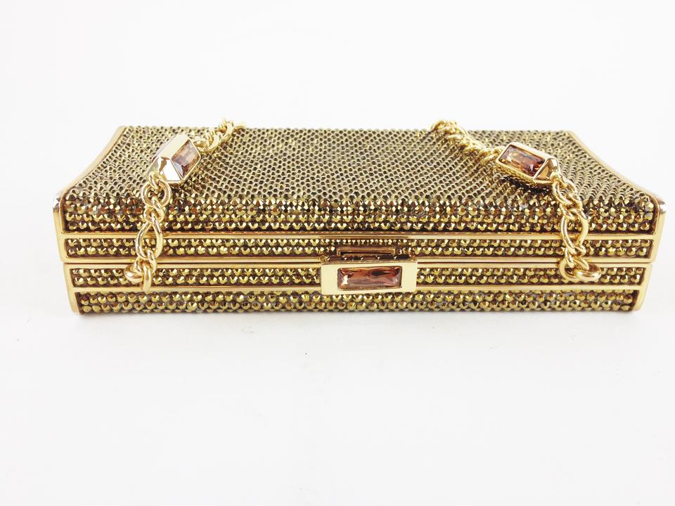 Judith Beaded Clutch Crystals Gold Leiber rrw5xqCR