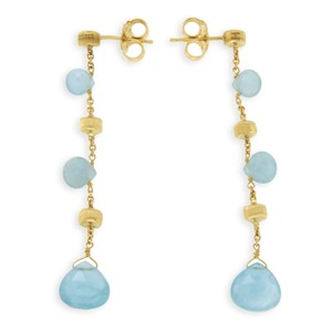Marco Bicego MARCO BICEGO 18K Yellow Gold Aquamarine Paradise Earrings