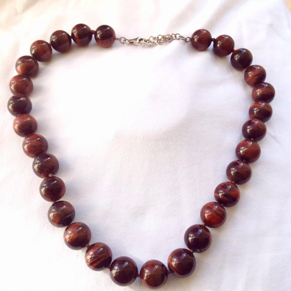 in with by choker brown tigers boho massive jewelry rose iridescent crystals swarovski caramel crystal eye coffee necklace beaded s golden products tiger herisson