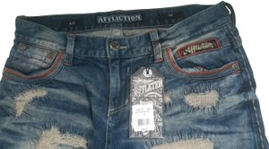 Affliction Mens Size 32 Low Rise Straight Leg Jeans-Medium Wash