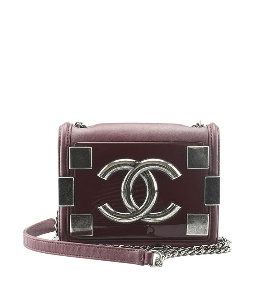 Chanel Boy Brick Quilted 138560 Burgundy Leather