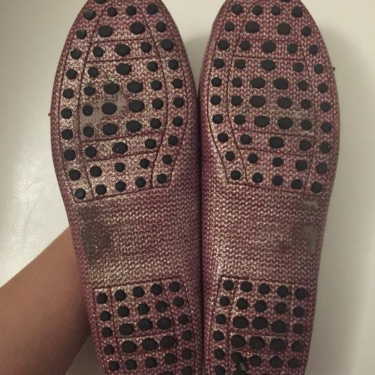 Tod's Loafers Pink Glitter Flats Image 2
