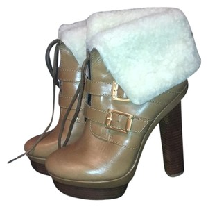 Rachel Zoe camel brown with creme shearling Boots
