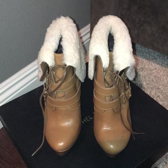 Rachel Zoe camel brown with creme shearling Boots Image 1