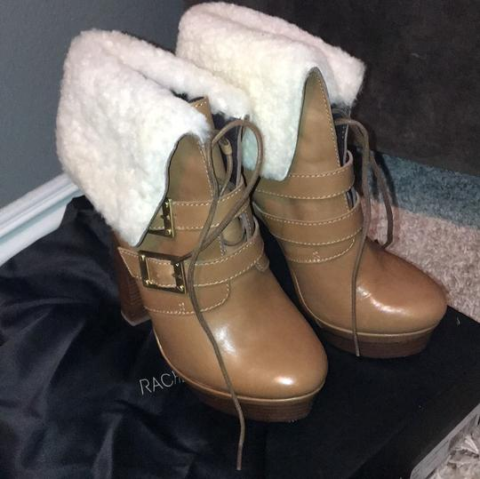 Rachel Zoe camel brown with creme shearling Boots Image 5