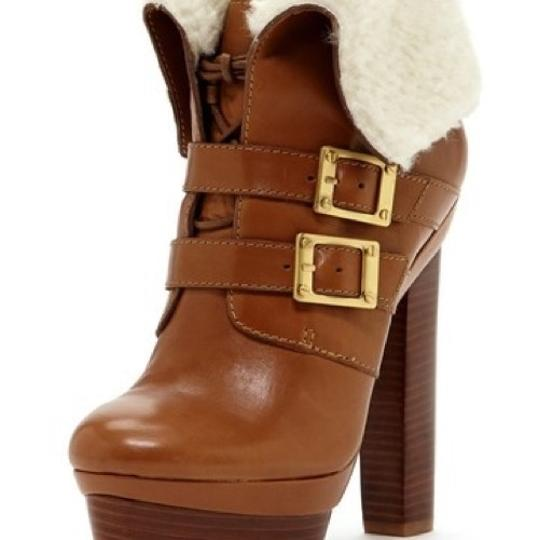 Rachel Zoe camel brown with creme shearling Boots Image 7